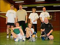 Die Sparte Badminton. Ein früheres Foto.